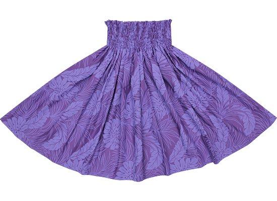 紫色のパウスカート モンステラ総柄 spau-rm-2022PPPP 69cm 4本ゴム【既製品】
