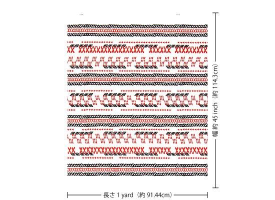 【カット生地】(1ヤード) ピンクのハワイアンファブリック タパ・ボーダー柄 fab-1y-2614WH 【4yまでメール便可】