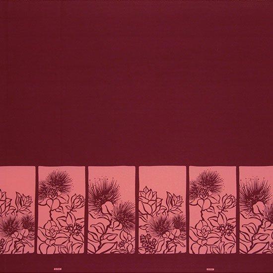 【カット生地】(1.5ヤード) 紫のハワイアンファブリック レフア柄 fab-1.5y-2525PP 【4yまでメール便可】