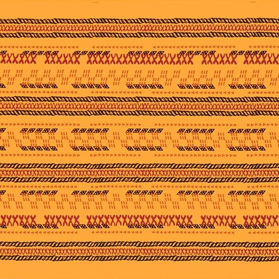 【カット生地】(2.5ヤード) 黄色のハワイアンファブリック タパ・ボーダー柄 fab-2.5y-2614YW 【4yまでメール便可】