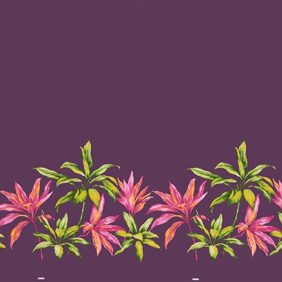 【カット生地】(3.5ヤード) 紫のハワイアンファブリック ティリーフ柄 fab-3.5y-2636PP 【4yまでメール便可】
