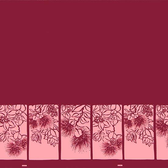 【カット生地】(1.5ヤード) 紫のハワイアンファブリック レフア柄 fab-1.5y-2555PP 【4yまでメール便可】