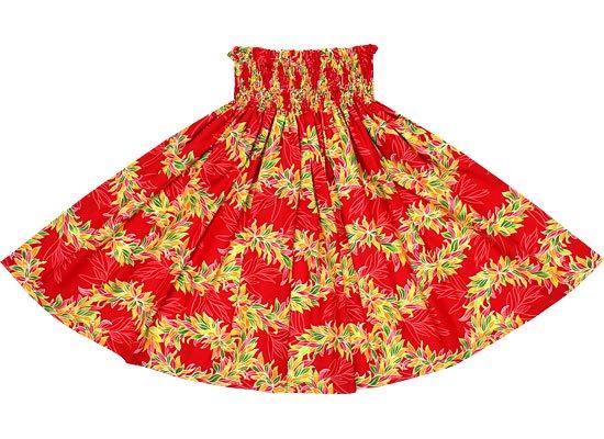 【蔵出し】 赤のパウスカート リーフレイ柄 spau-2550RD-re
