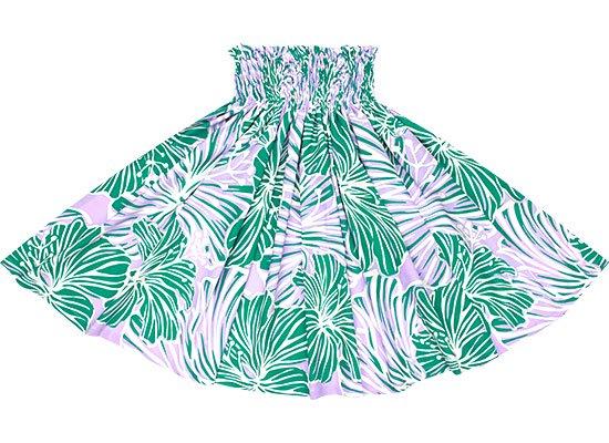 【蔵出し】 緑と紫のパウスカート ハイビスカス大柄 spau-2578GNPP-re