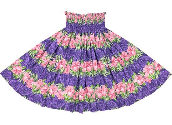 【蔵出し】 紫のパウスカート ハイビスカス・モンステラ柄 spau-2626PP-re