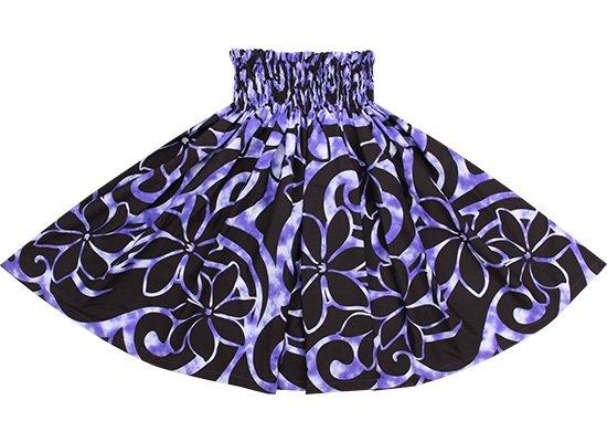 【蔵出し】 紫のパウスカート ティアレ・タヒチ柄 spau-2633PP-re