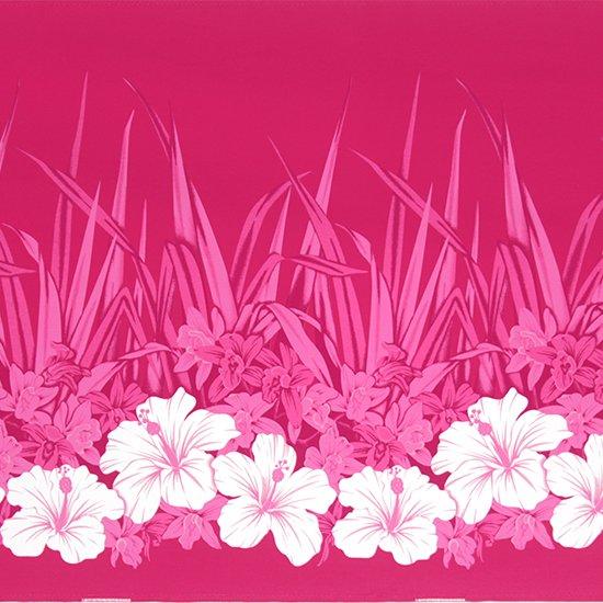 ピンクのハワイアンファブリック ハイビスカス・オーキッド柄 fab-2799Pi 【4yまでメール便可】