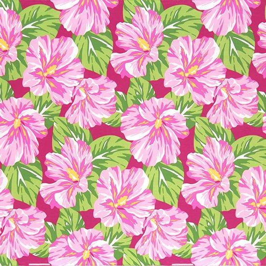 ピンクのハワイアンファブリック ハイビスカス大柄 fab-2800Pi 【4yまでメール便可】