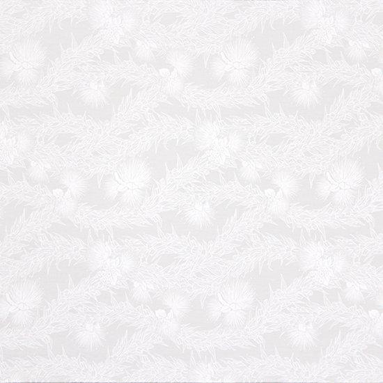 白のハワイアンファブリック レフア・マイレレイ柄 fab-2801WHWH 【4yまでメール便可】