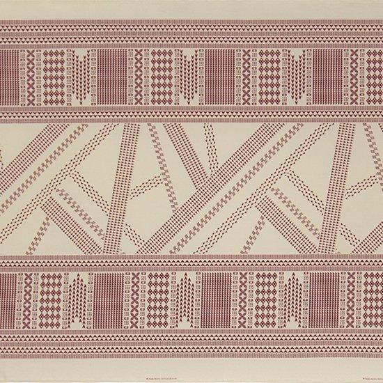 ベージュのハワイアンファブリック オヘカパラ・カヒコ柄 fab-2802BG 【4yまでメール便可】