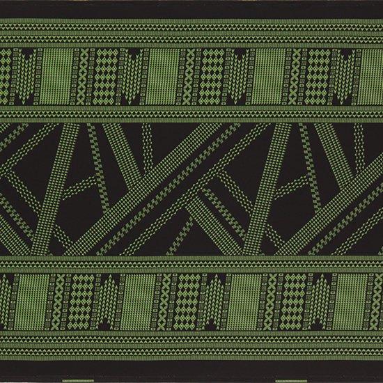 黒のハワイアンファブリック オヘカパラ・カヒコ柄 fab-2802BK 【4yまでメール便可】