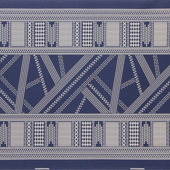 青のハワイアンファブリック オヘカパラ・カヒコ柄 fab-2802BL 【4yまでメール便可】
