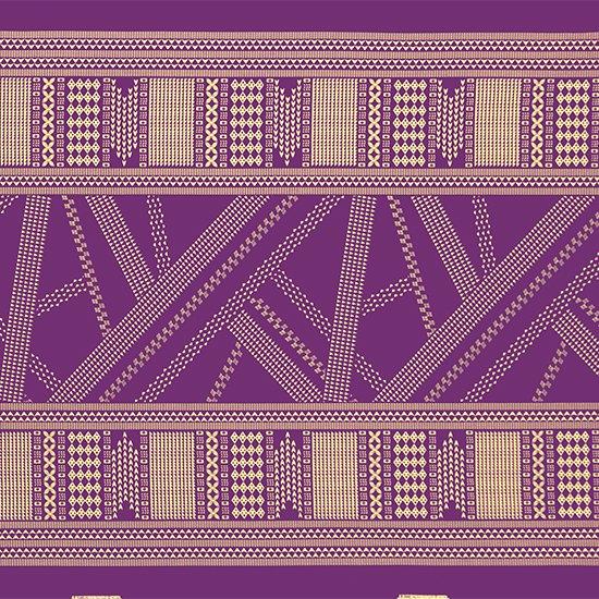 紫のハワイアンファブリック オヘカパラ・カヒコ柄 fab-2802PP 【4yまでメール便可】