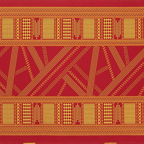 赤のハワイアンファブリック オヘカパラ・カヒコ柄 fab-2802RD 【4yまでメール便可】