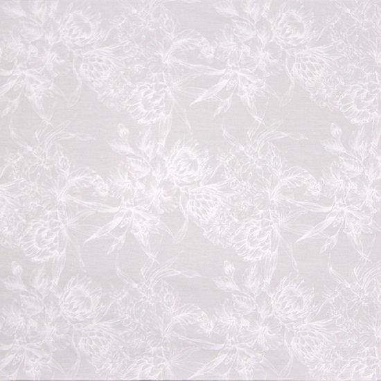 白のハワイアンファブリック プロテア・ハイビスカス柄 fab-2806WHWH 【4yまでメール便可】