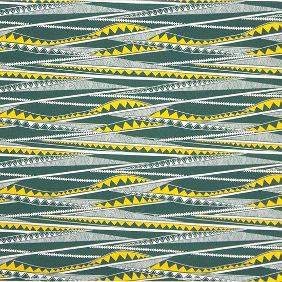 緑のハワイアンファブリック カヒコ・ボーダー柄 fab-2807GN 【4yまでメール便可】