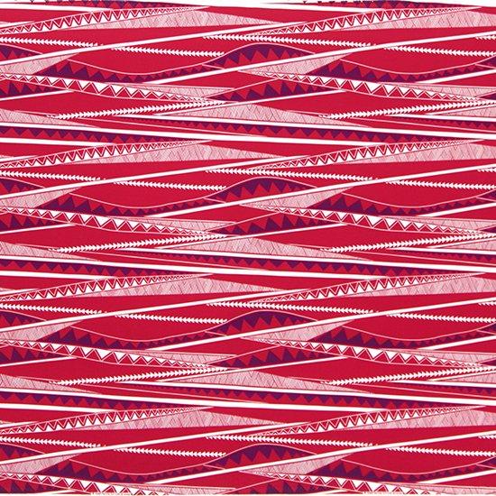 赤のハワイアンファブリック カヒコ・ボーダー柄 fab-2807RD 【4yまでメール便可】