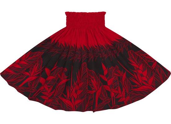 赤のパウスカート ヘリコニア・ティリーフ柄 spau-2805RD