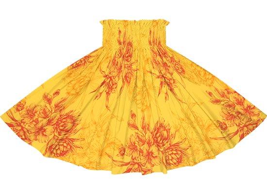 黄色のパウスカート プロテア・ハイビスカス柄 spau-2806YW