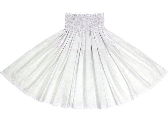 白のパウスカート プロテア・ハイビスカス柄 spau-2806WHWH