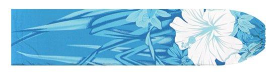水色のパウスカートケース ハイビスカス・オーキッド柄 pcase-2799AQ 【メール便可】★オーダーメイド