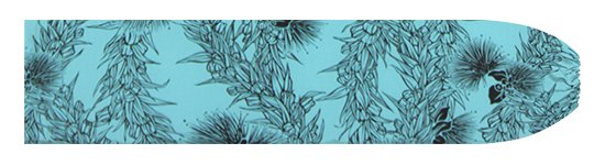 水色のパウスカートケース レフア・マイレレイ柄 pcase-2801AQ 【メール便可】★オーダーメイド