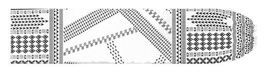 白のパウスカートケース オヘカパラ・カヒコ柄 pcase-2802WH 【メール便可】★オーダーメイド