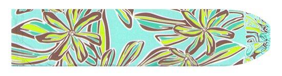 水色のパウスカートケース ティアレ・リーフ柄 pcase-2804AQ 【メール便可】★オーダーメイド