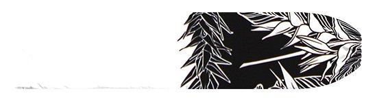 白のパウスカートケース ヘリコニア・ティリーフ柄 pcase-2805WH 【メール便可】★オーダーメイド