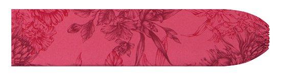 赤のパウスカートケース プロテア・ハイビスカス柄 pcase-2806RD 【メール便可】★オーダーメイド