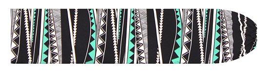 黒とヒスイ色のパウスカートケース カヒコ・ボーダー柄 pcase-2807BKJD 【メール便可】★オーダーメイド