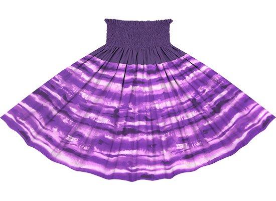 【切り替えパウスカート】 紫のイリカイ柄とディープバイオレットの無地 75cm 4本ゴム ykpau-rm-2774PP 【既製品】