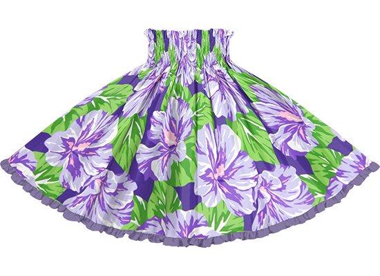 【リヒリヒパウスカート】 紫のハイビスカス柄 ブルーベリーの無地 lhpau-2800PP