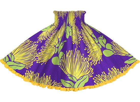【リヒリヒパウスカート】 紫のレフア大柄 ニューゴールドの無地 lhpau-2803PP