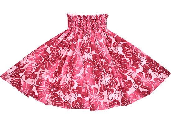 【蔵出し】 ピンクのパウスカート ハイビスカス・モンステラ柄 spau-2692Pi-re