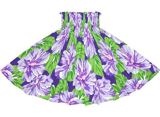 紫のパウスカート ハイビスカス柄 spau-rm-2800PP 75cm 4本ゴム 【既製品】