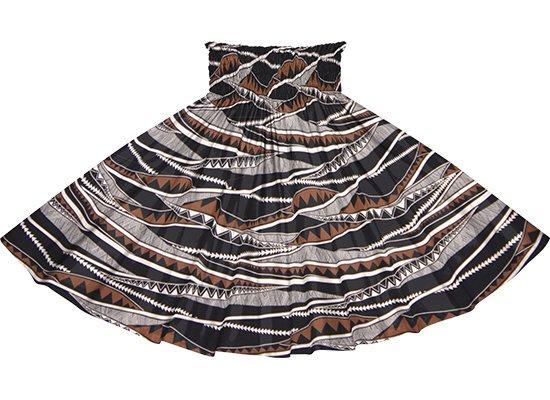 黒と茶色のパウスカート カヒコ・ボーダー柄 spau-rm-2807BKBR 75cm 4本ゴム 【既製品】