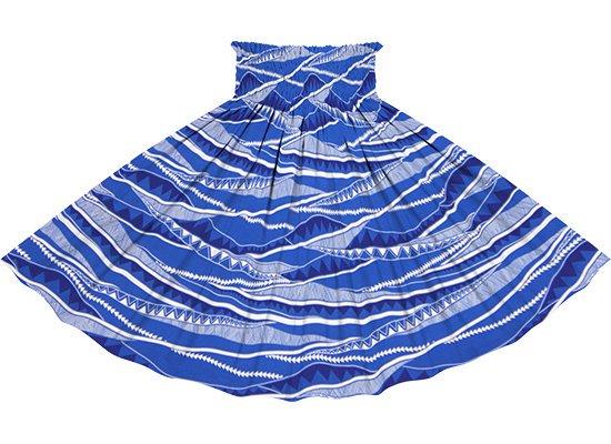 青のパウスカート カヒコ・ボーダー柄 spau-rm-2807BL 75cm 4本ゴム 【既製品】
