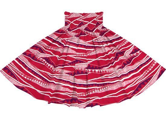 赤のパウスカート カヒコ・ボーダー柄 spau-rm-2807RD 75cm 4本ゴム 【既製品】