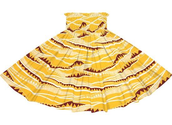 黄色のパウスカート カヒコ・ボーダー柄 spau-rm-2807YW 75cm 4本ゴム 【既製品】