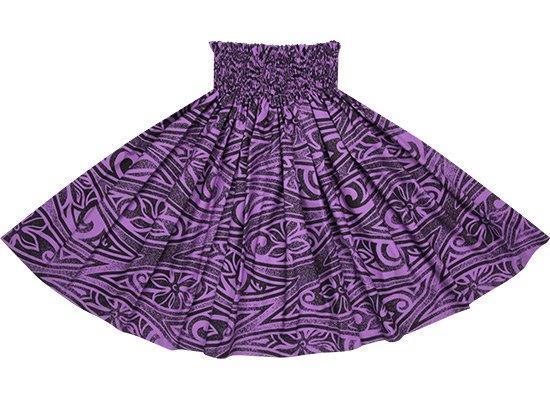 【蔵出し】 紫のパウスカート ティアレ・タパ柄 spau-2687PP-re