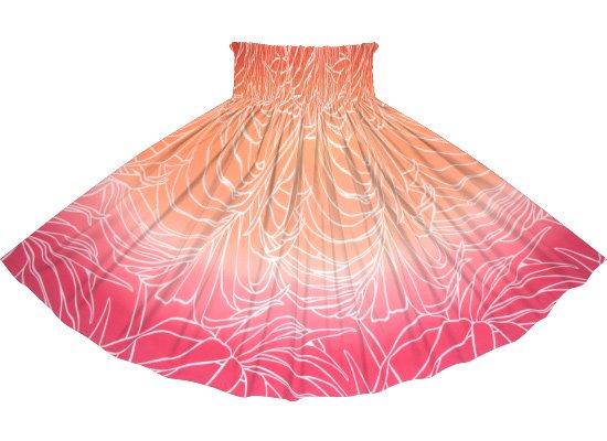 【蔵出し】 ピンクと赤のパウスカート ヤシ・グラデーション柄 spau-2703RD-rev-re