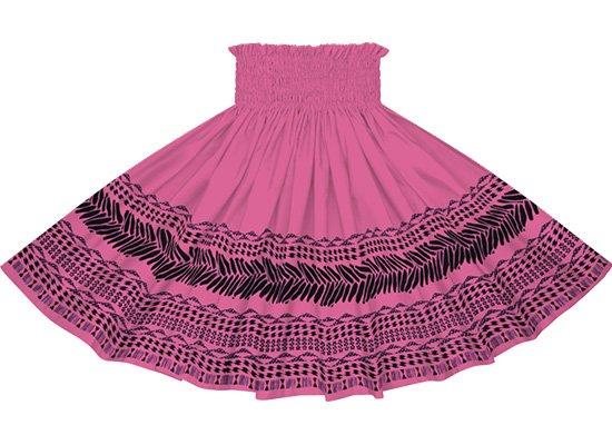 【蔵出し】 紫のパウスカート タパ・カヒコ・ボーダー柄 spau-2724PP-re