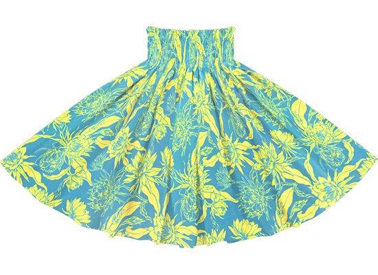 【蔵出し】 青と黄色のパウスカート ナイトブルーミングセレウス柄 spau-2725BLYW-re