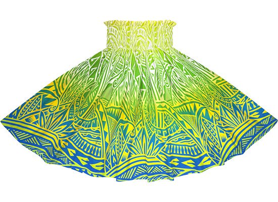 【蔵出し】 水色のパウスカート トライバル・グラデーション柄 spau-2732AQYW-re
