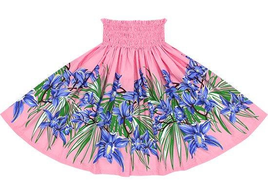 【蔵出し】 ピンクと青のパウスカート オーキッド柄 spau-2645PiBL-re
