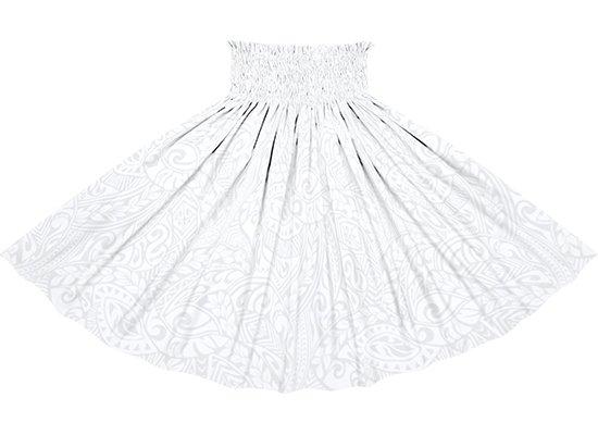 白のパウスカート タパ・リーフ総柄 spau-2243WHWH