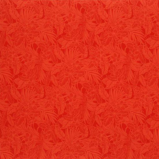 【カット生地】(1.5ヤード) 赤のハワイアンファブリック プルメリア総柄 fab-1.5y-2631RD 【4yまでメール便可】