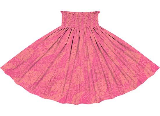 【限定色】 ピンクのパウスカート モンステラ総柄 spau-2022Pik