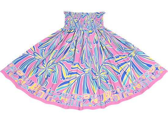 ピンクのパウスカート ティアレ・リーフ柄 spau-rm-2804Pi 71cm 4本ゴム 【既製品】